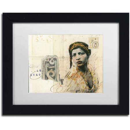 Trademark Fine Art Ronda Maur Canvas Art By Nick Bantock  White Matte  Black Frame