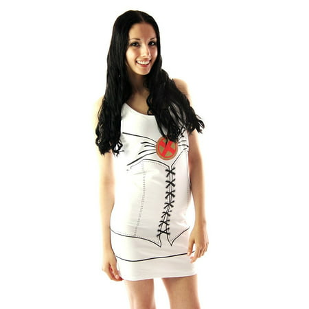 X-Men Emma Frost White Queen Juniors Costume Tunic Tank Dress