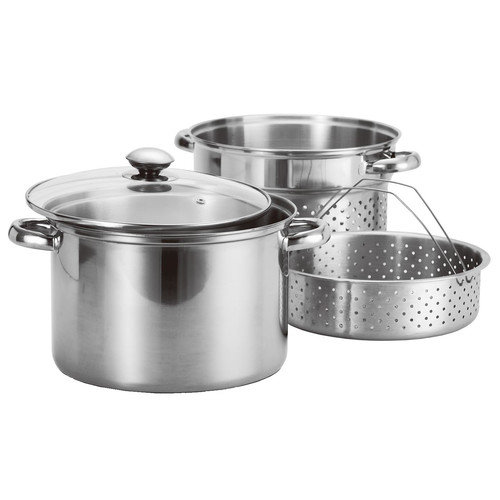 Prime Pacific 4 Piece Stainless Steel Pasta Cooker & Steamer