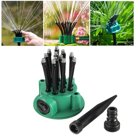 360 Degrees 12-Arm Flexible Lawn Sprinkler Noodle Head Garden Yard Sprinkler Durable Farmland Lawn Pipe Hose Spray Irrigation System Grass Lawn Water Sprayer Covering Large