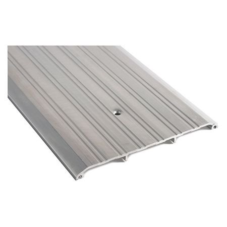 NATIONAL GUARD 428E - 72 Saddle Threshold,72in.L,Fluted,8in.W G1615017 72' 6061 Aluminum Flat Bar