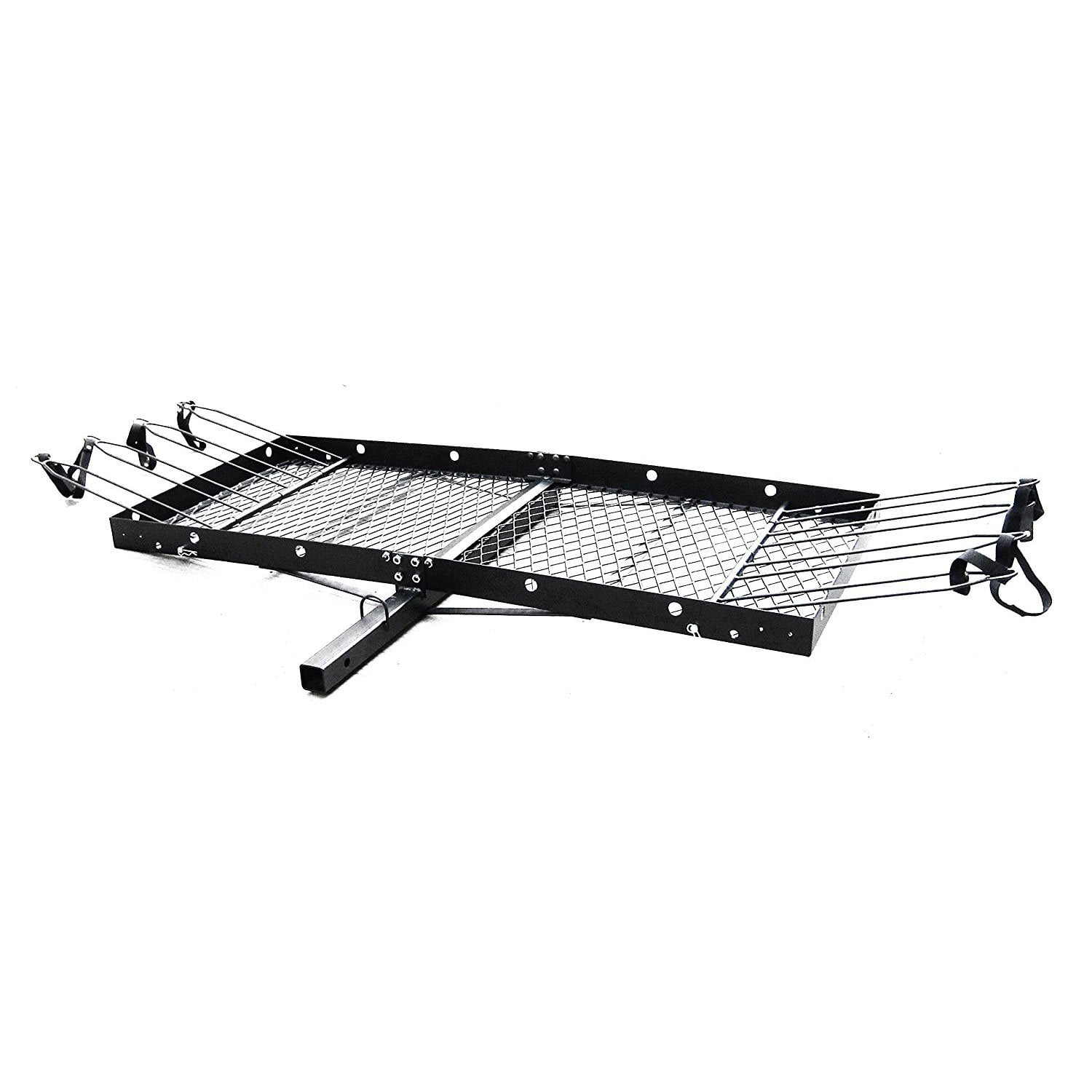 Tow Tuff 62 Inch Steel Cargo Carrier Trailer for Car or Truck with Bike Rack by Tow Tuff