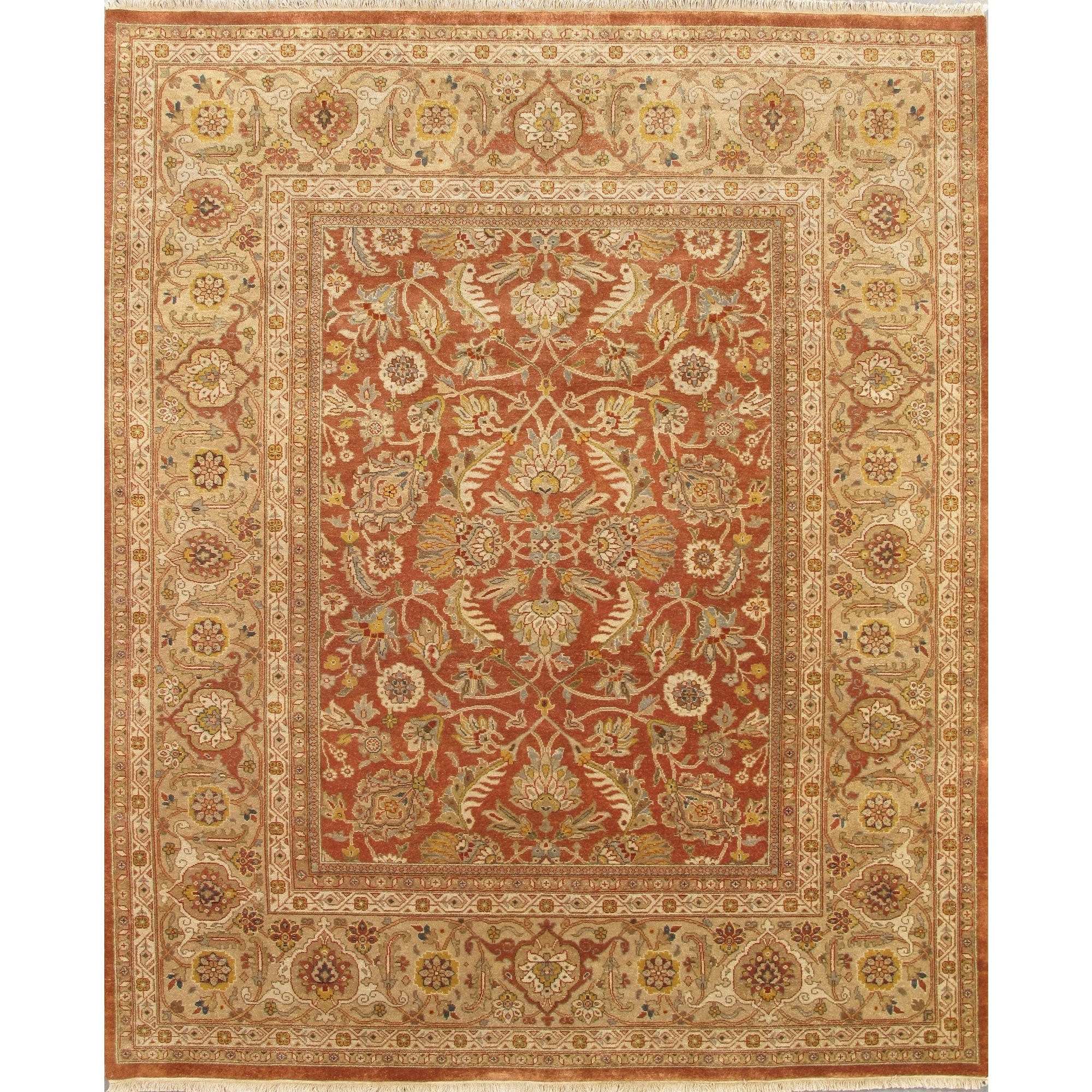 Pasargad Sultanabad Hand Knotted Camel Gold Wool Rug 8 X 10