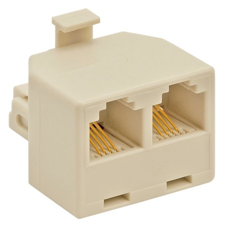 Duplex In Line Adapter - Cmple - Duplex Jack Adapter (Ivory, 4-conductor)