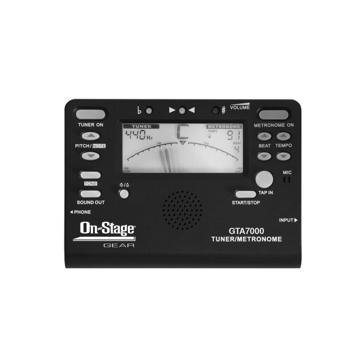 On-Stage GTA7000 Chromatic Tuner, Metronome, Tone Generator