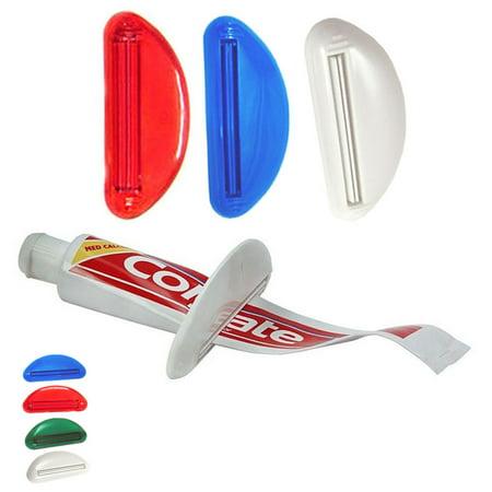 3 Ez Plastic Tube Squeezer Toothpaste Dispenser Holder Rolling Bathroom Extract