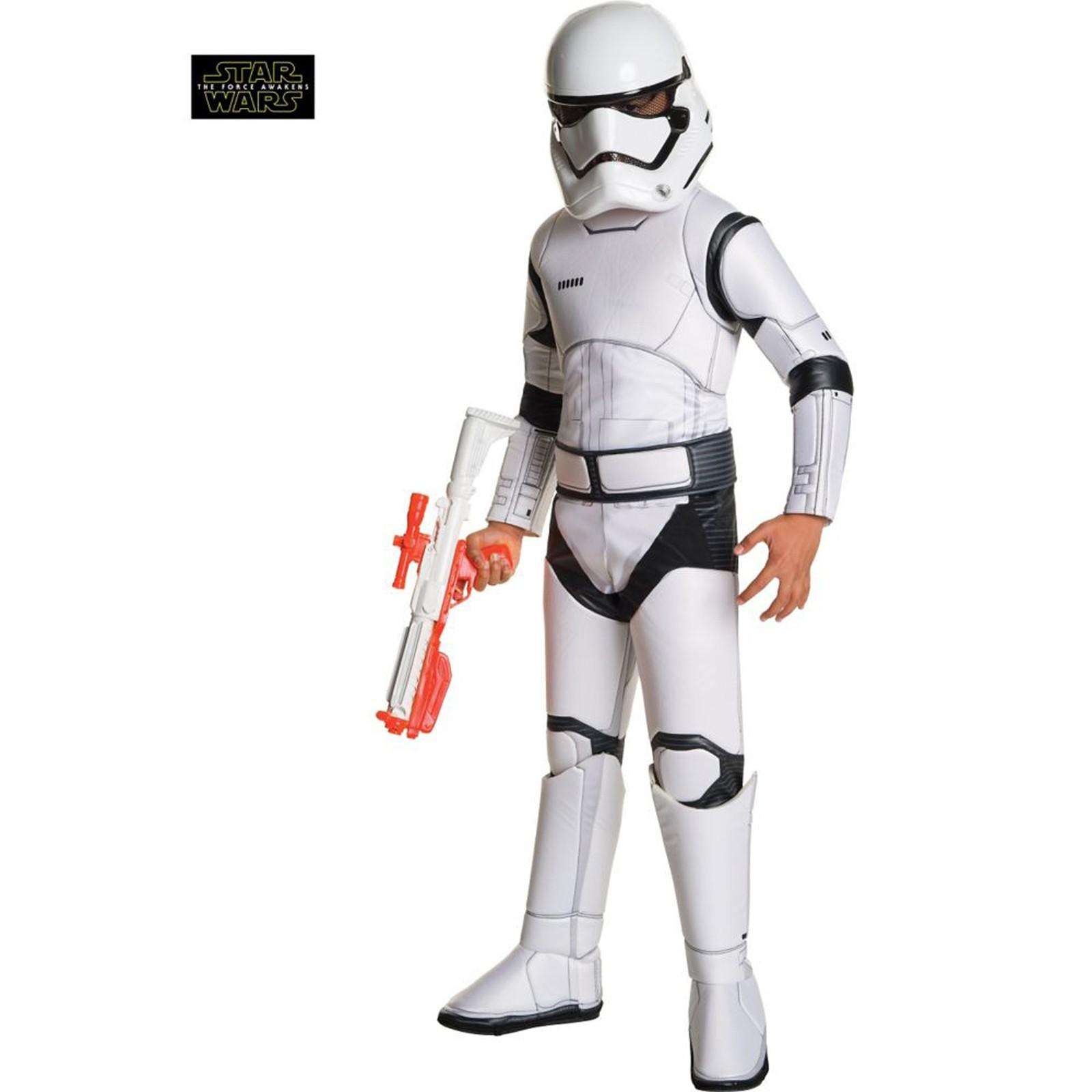 Star Wars Ep VII Super Deluxe Stormtrooper Child Costume M