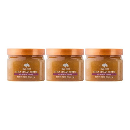 Cocoa Butter Scrub ((3 Pack) Tree Hut Almond & Honey Shea Sugar Butter Scrub, 18)