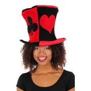 Madhatter Ace and Hearts Hat Adult Costume Accessory One Size