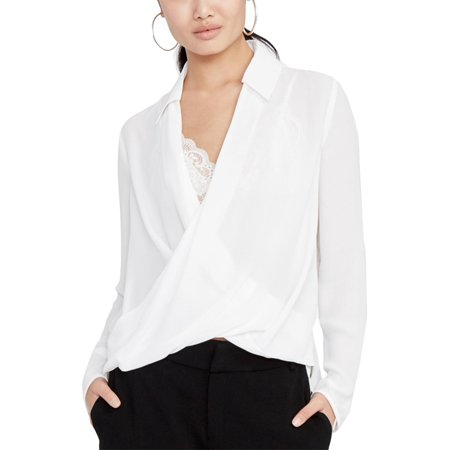 Womens Crossover - Rachel Rachel Roy Womens Crepe Crossover Pullover Top Ivory 6