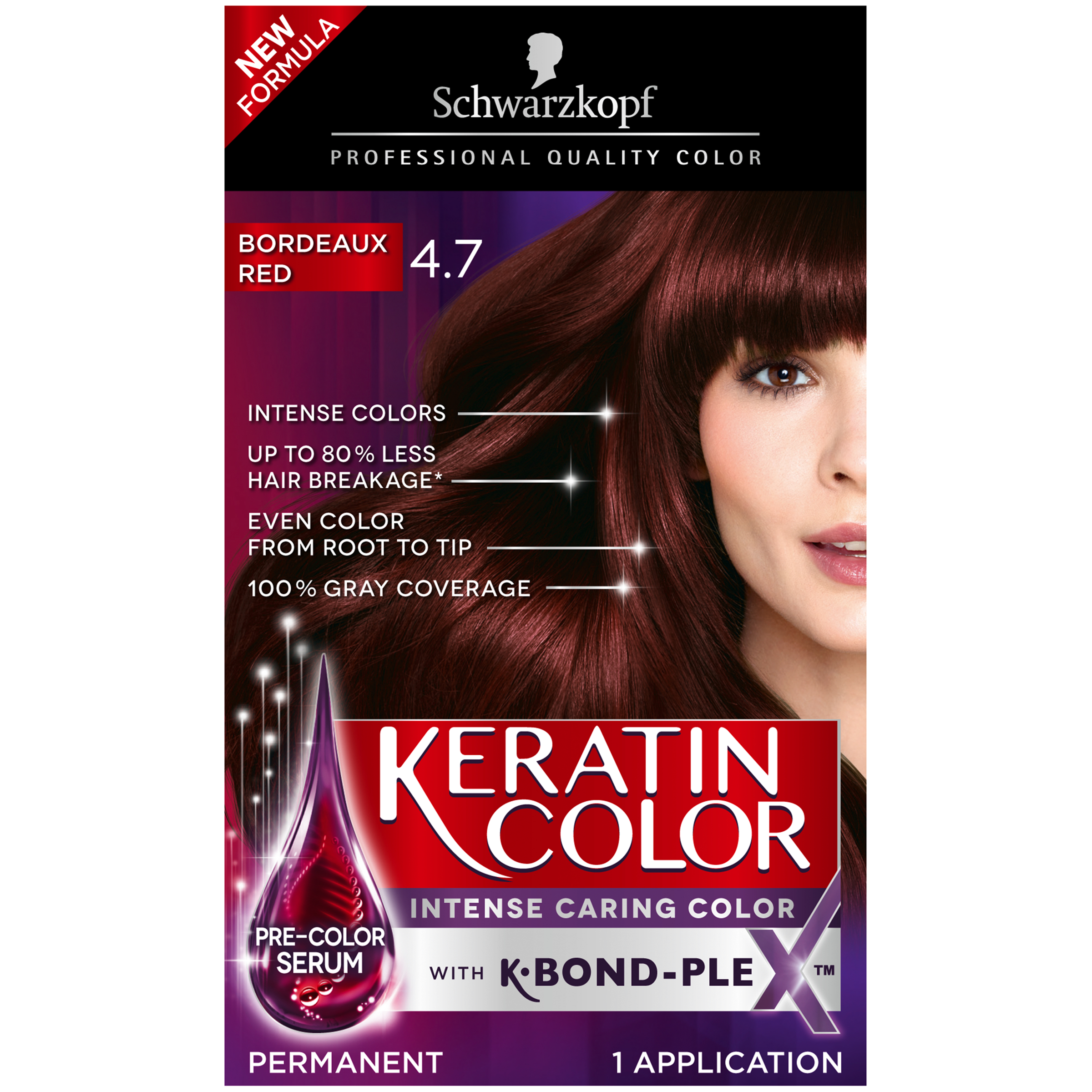 Schwarzkopf Keratin Color Anti-Age Hair Color Kit, 7.0 Secret Blonde