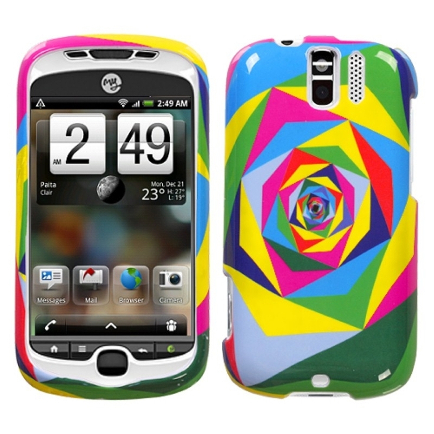 INSTEN Pop Square Phone Case for HTC: myTouch 3G Slide