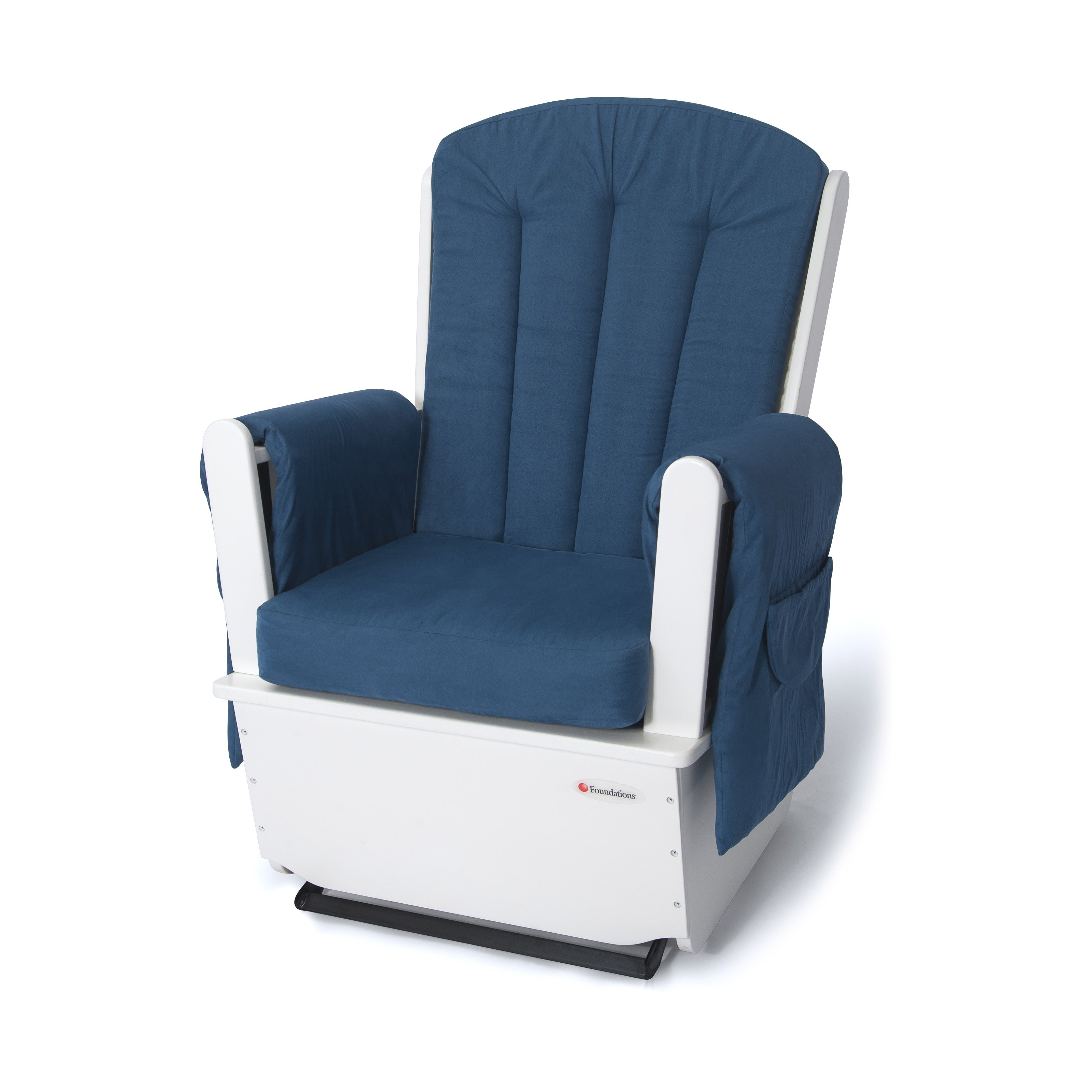 Foundations SafeRocker SS Swivel Glider Rocker White Blue by Foundations