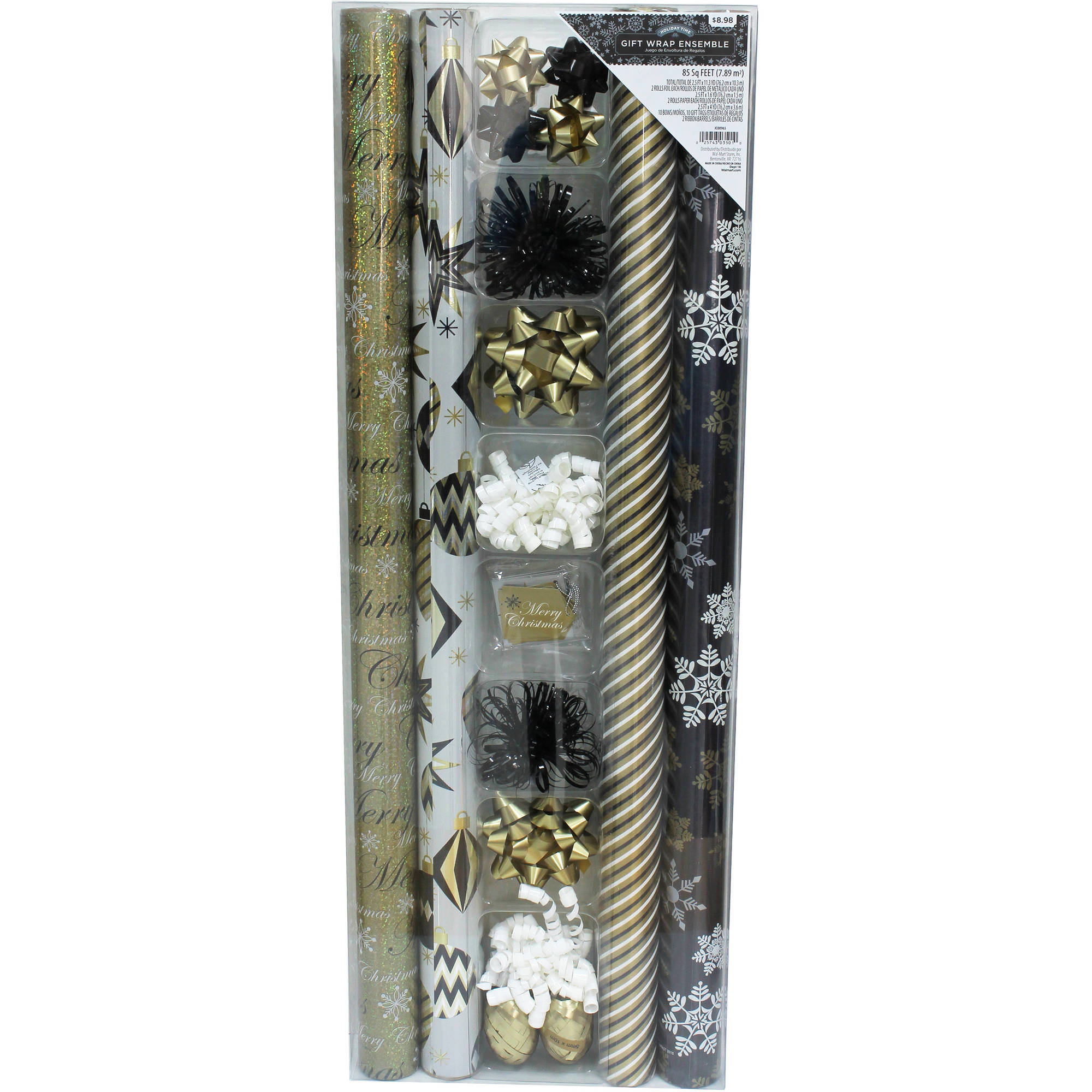 4-Roll Heavyweight 85 sq ft Giftwrapping Kit