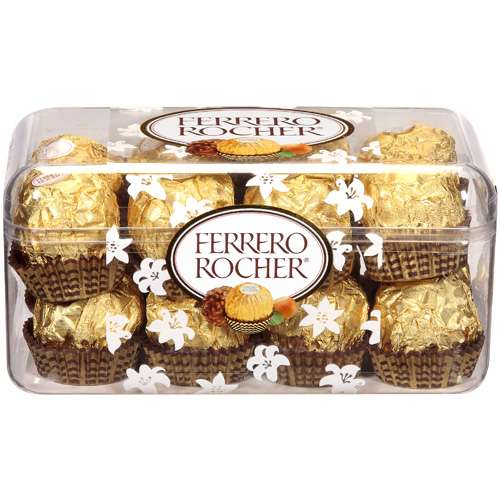 Ferrero Rocher: Fine Hazelnut Chocolates, 7 oz
