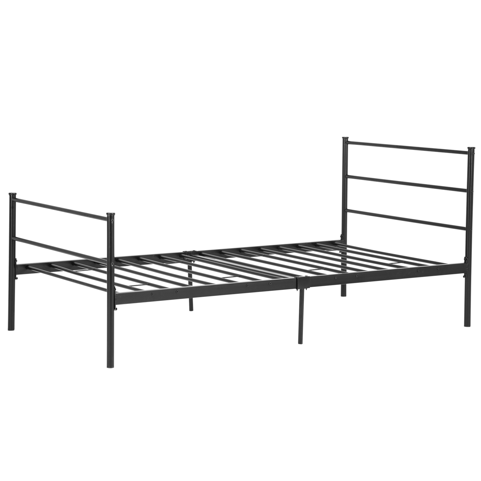 Mecor Metal Bed Frame Platform With Headboard Footboard 10 Legs Furniture Black,Multiple Sizes by Mecor