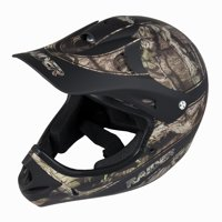 Raider Ambush Motocross Off-Road Youth Helmet - Mossy Oak - Small