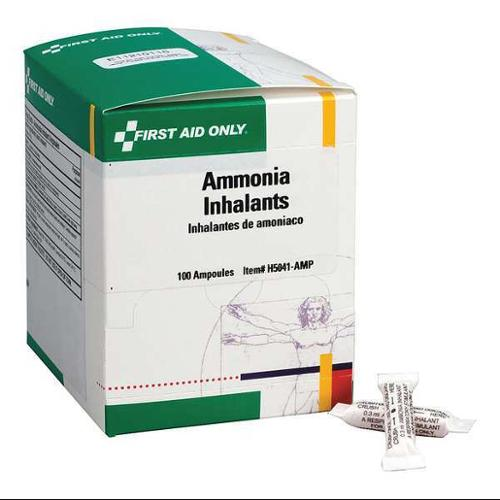 FIRST AID ONLY H5041-AMPGR Ammonia Inhalants Ampoules,0.3mL,100/Box G2276219