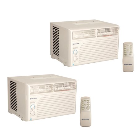 Cool Living 6,000 BTU Energy Star Efficient Window Mount Room Air Conditioner, 2