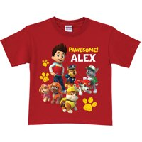 Personalized PAW Patrol Pawesome Toddler T-Shirt, Red (2T, 3T, 4T, 5/6T)