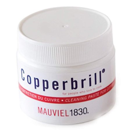 Mauviel Copperbrill Copper Cleaner (Made In France Copperbrill Copper Cleaner, 150 ml, 0.15-quart jar of copper cookware cleaner By)