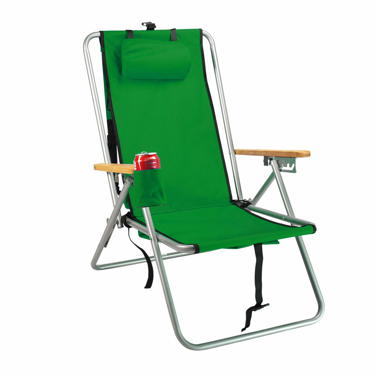 Hi-Back Deluxe Steel Backpack Chair with Storage Pouch