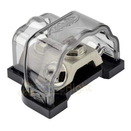 Xscorpion GDBRP Power Ground Ring Terminal Distribution Block Universal 8 4 2 0 Gauge In Out ()
