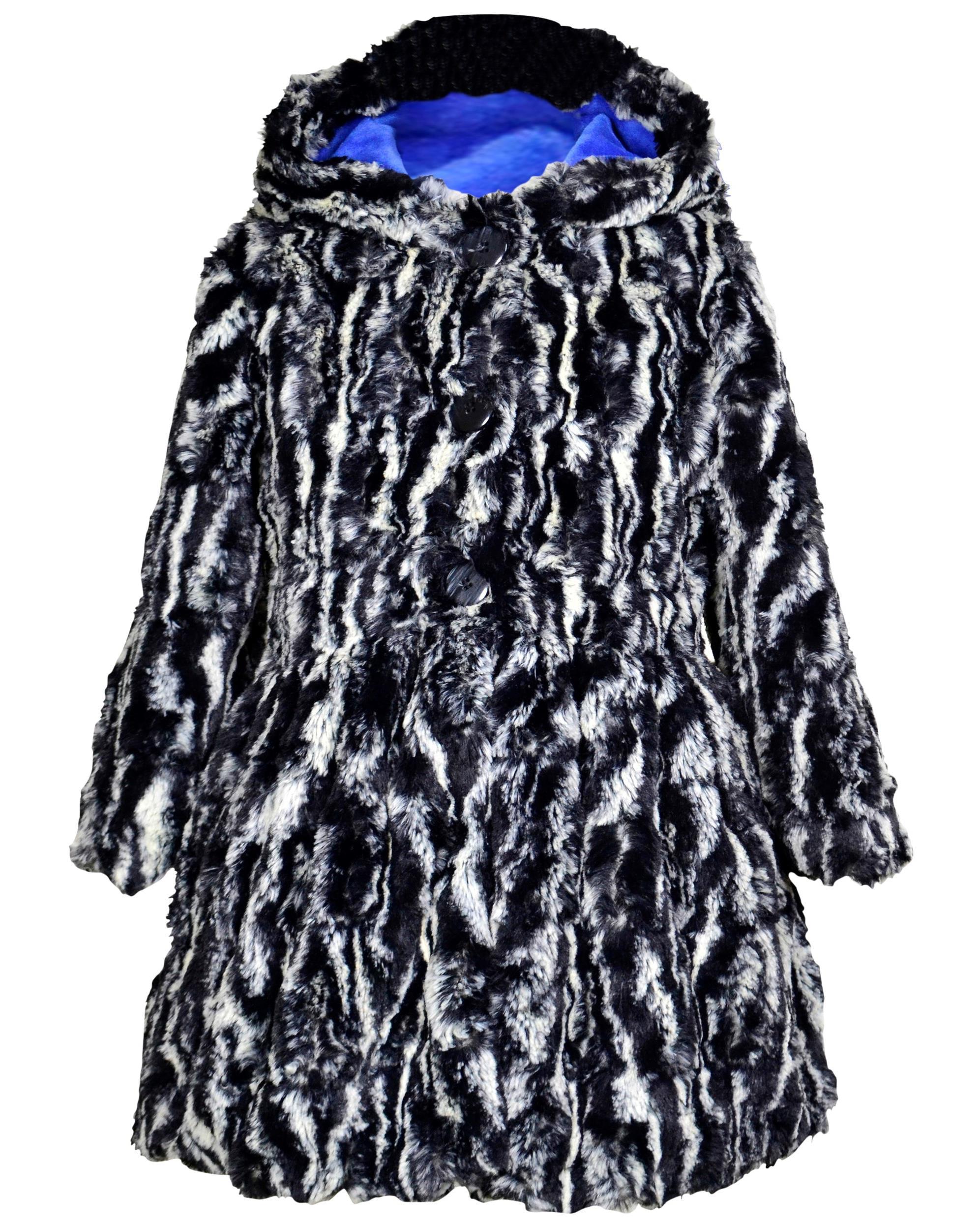 5779b2358 Widgeon Little Girls  Button Front Faux Fur Coat