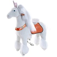 Vroom Rider X Ponycycle Ride-On Unicorn for 4-9 Years Old - Medium