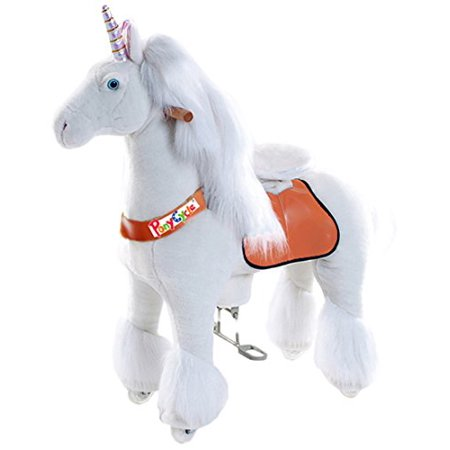 Vroom Rider X Ponycycle Ride-On Unicorn for 4-9 Years Old - Medium - Presents For 12 Year Old Boy