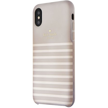 Kate Spade Soft Touch Case for iPhone XS and X - Feeder Stripe - Kate Spade Stripes