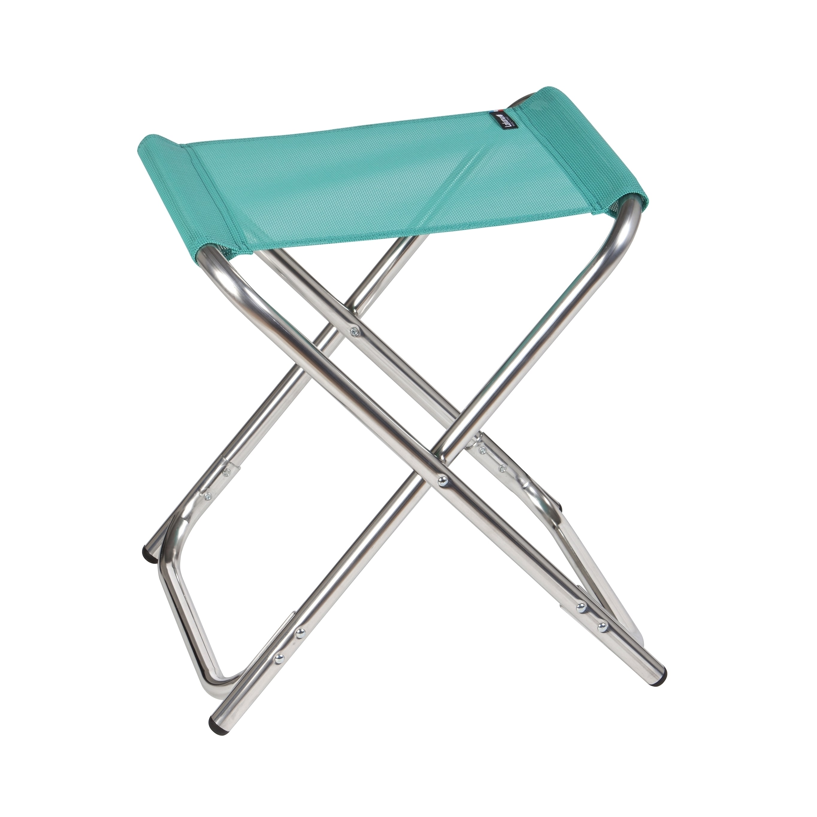 Lafuma ALU PL Alu brut Aluminum Frame Folding Stool with Emeraude Batyline Fabric (Set of 6) by Overstock