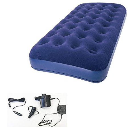 Zaltana Twin Size Air Mattress with Two Way Electric air Pump (Including Both car Charger & Wall Plug) (AMN+APE)