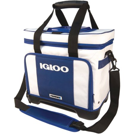 Igloo White & Navy 32 Can Marine Ultra Stout Divided Cooler