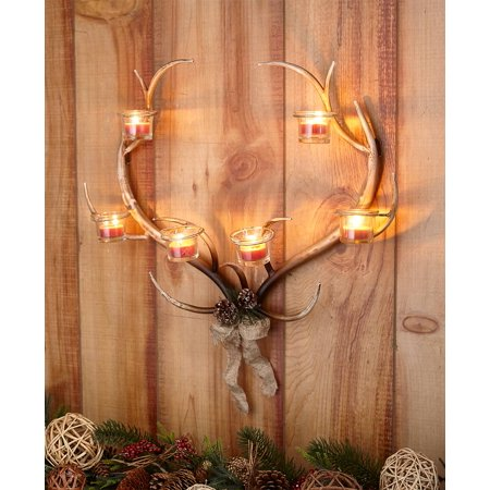 - The Lakeside Collection Antler Tealight Wall Sconce