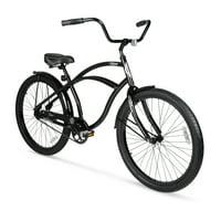 Hyper 26 inch Men's Beach Cruiser Bike (Black)