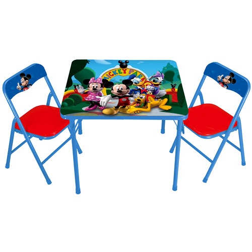 Awesome Disney   Mickey Mouse Clubhouse Activity Table And Chairs Set