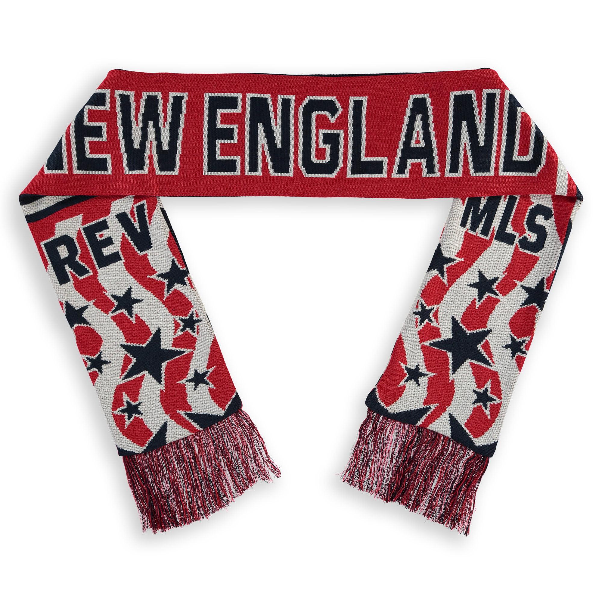 New England Revolution Fanatics Branded Jacquarded Americana Scarf - Navy/White - OSFA