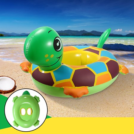 - Child Baby Inflatable 3D Tortoise Float Seat Swim Ring Water Fun Raft Ring Toy Outdoor Play Swimming Pools