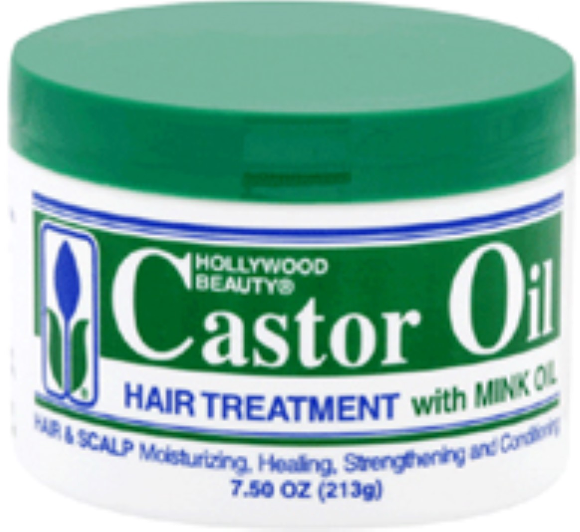 Hollywood Beauty Castor Oil Hair Treatment with Mink Oil, 7.5 oz