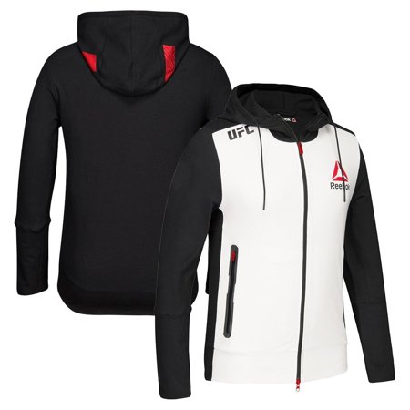 Reebok Nfl Hoodie - Reebok Official UFC Fight Kit BER (White/Black/Red) Walkout Hoodie Men's