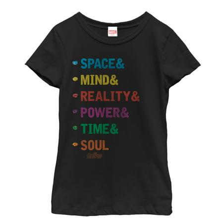 Marvel Girls' Avengers: Infinity War Gift of Gauntlet T-Shirt - Girl Avengers
