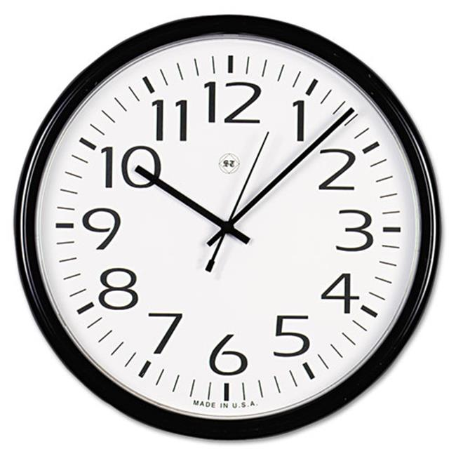 Universal Office Products 11641 Round Wall Clock - Black, 12 inch