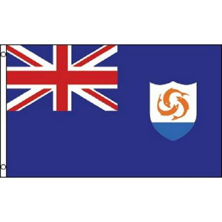 3x5 Anguilla Flag British Territory Banner Caribbean Island - Anguilla Flag