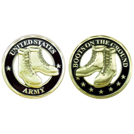 US Army Boots On The Ground Double Sided Collectible Challenge Coin