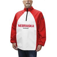 Nebraska Cornhuskers Game Day Windshell Quarter-Zip Jacket - White/Scarlet