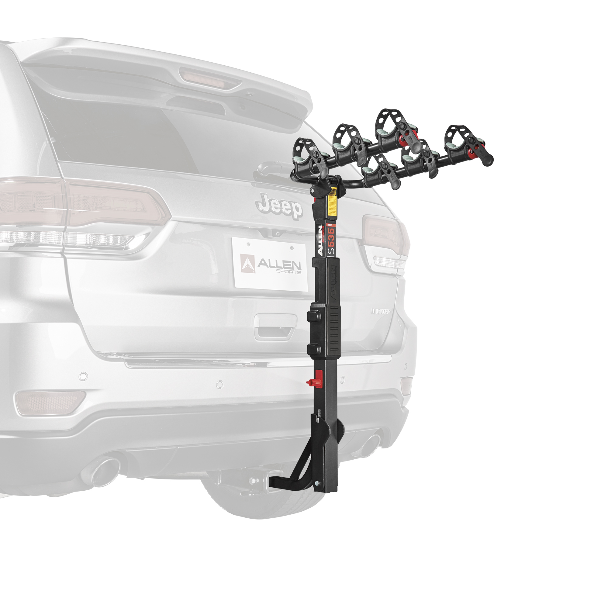 Allen Sports Premier 3-Bicycle Hitch Mounted Bike Rack Carrier, S-535