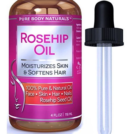 Rosehip Seed Oil for Face, Nails, Hair Or Skin by Pure Body Naturals, 4 Fl. Ounce](Fake Body)