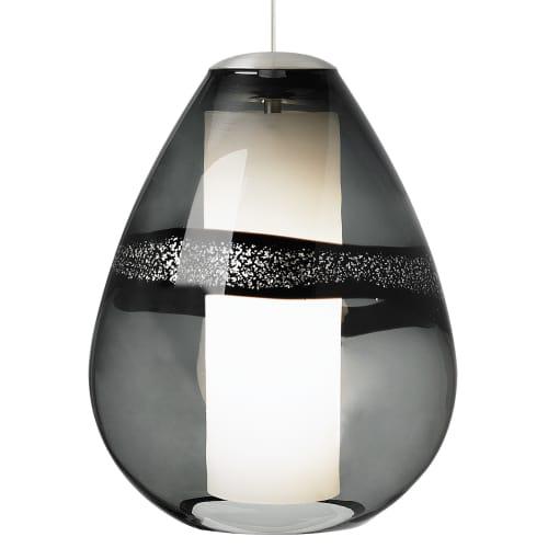 Lbl lighting mini miyu gray 75w pendant 1 light mini pendant