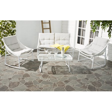 Safavieh Berkane Outdoor Modern Casual 4 Piece Set with Cushion
